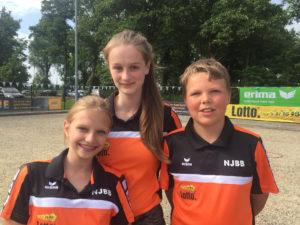 Nationaal kampioenen Tripletten aspiranten: Rachel van Rooijen, Sanne van Ieperen en Rens de Roos