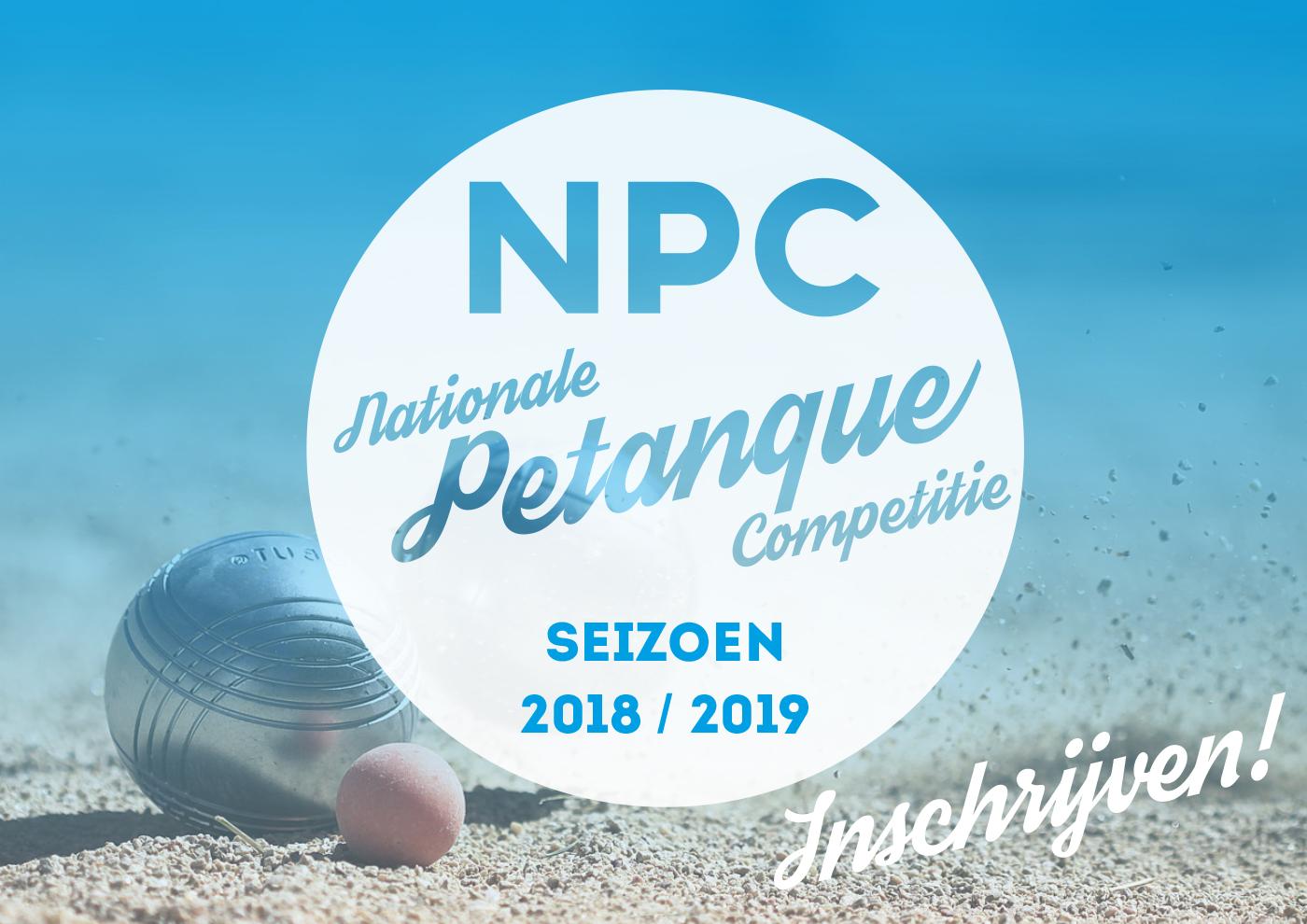 Inschrijven NPC seizoen 2018-2019