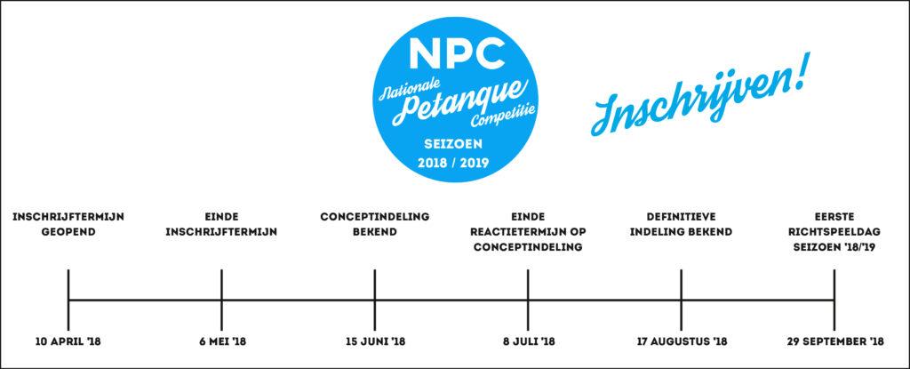 Nationale Petanque Competitie planning inschrijven