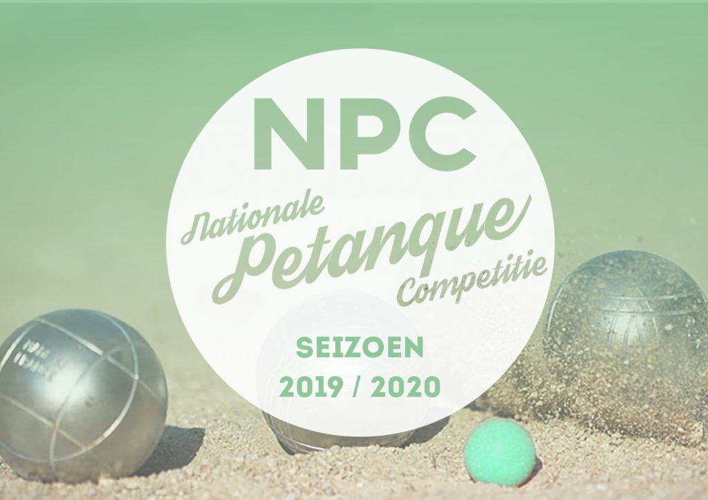 Nationale Petanque Competitie seizoen 2019 - 2020