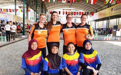 Vrouwen eindigen bij laatste 8 tijdens WK Tripletten in Cambodja